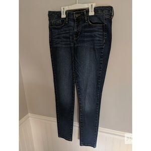Mossimo dark wash skinny jeans size 6 midrise